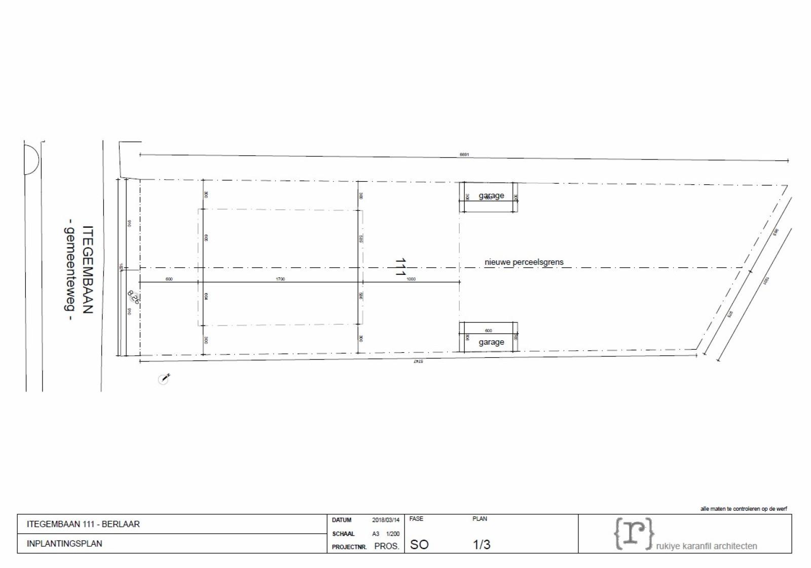 Bouwgrond op 500m² voor één half-open bebouwing nabij de dorpskern van Berlaar.  afbeelding 2