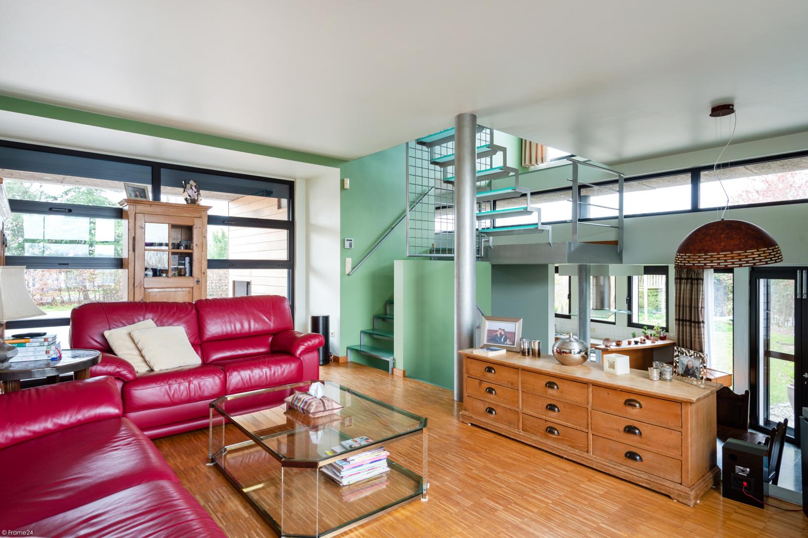 Architecturale halfopen woning met prachtig uitzicht op een perceel van 575 m² te Aartselaar! afbeelding 4