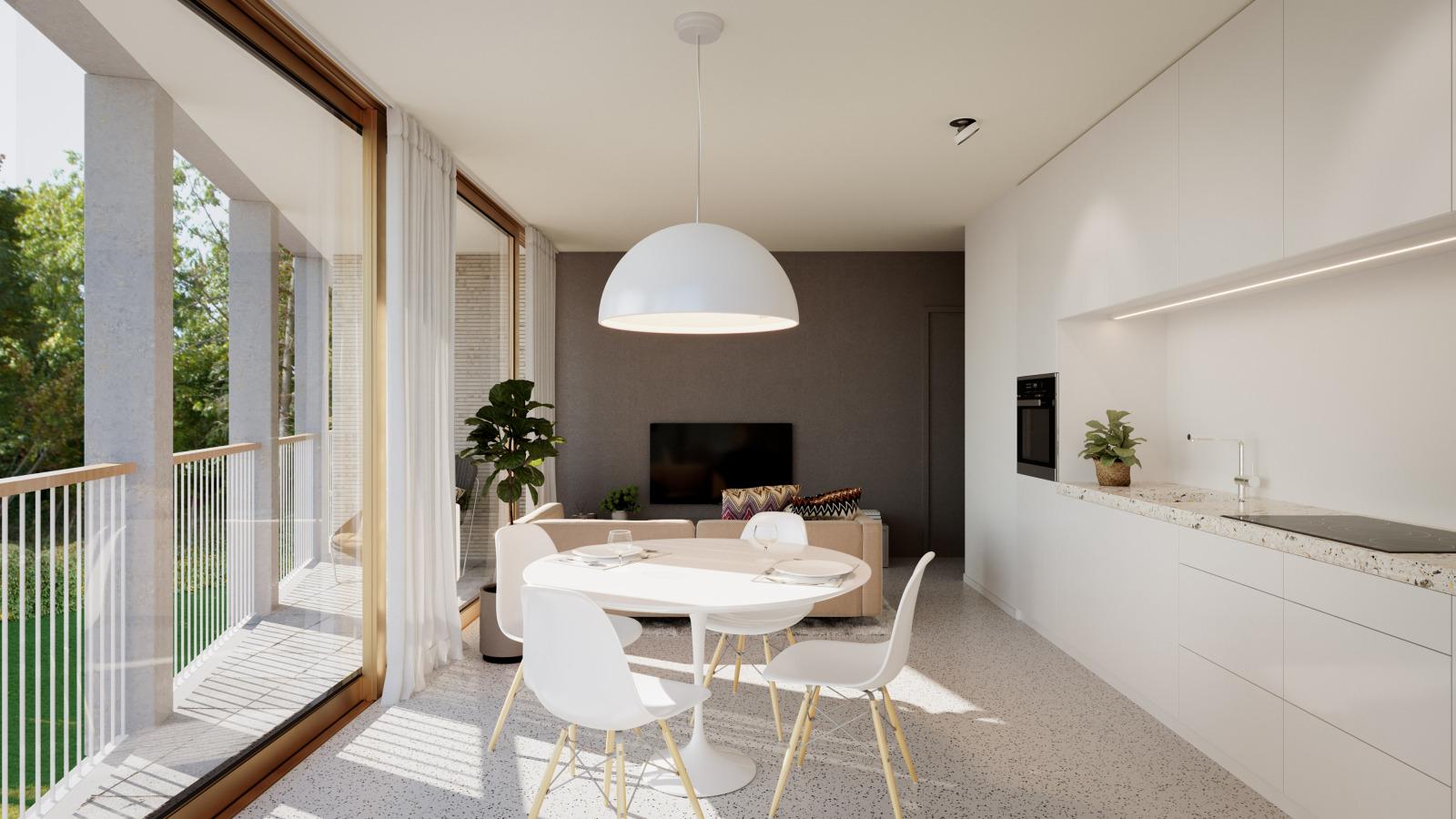 Nieuwbouw appartement op de eerste verdieping in prachtig binnengebied! afbeelding 1