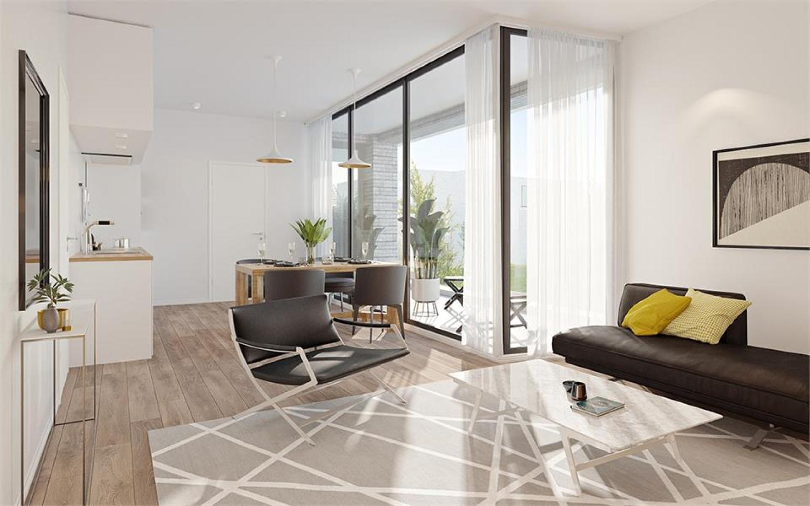 Prachtig gelijkvloers appartement te Zandhoven, met zicht op agrarisch gebied! afbeelding 2