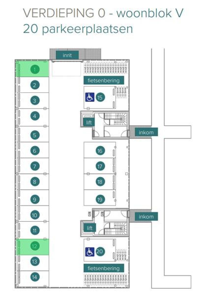 Overdekte staanplaatsen in residentie ' De Boterton ' te Lier! afbeelding 6