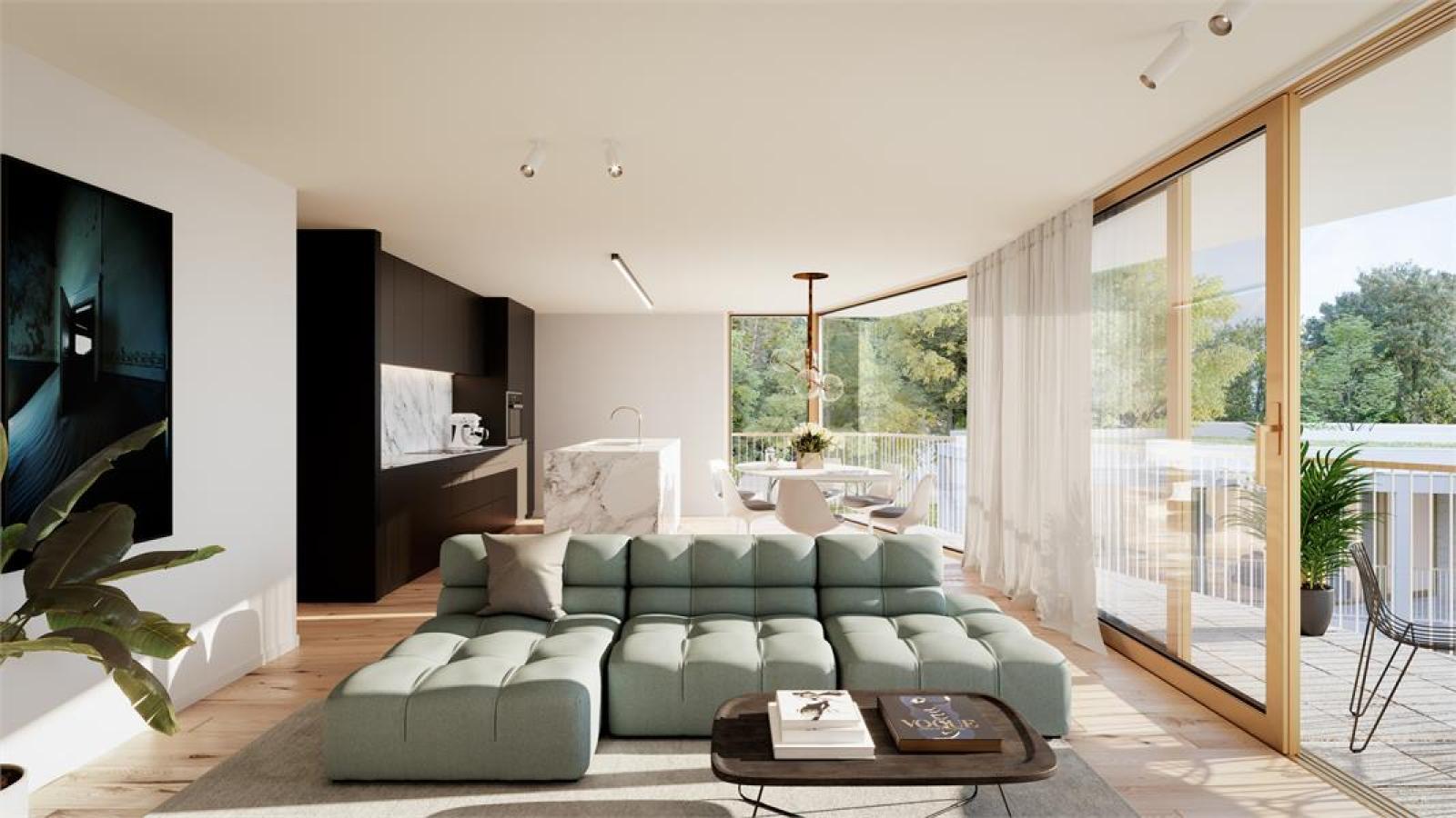 Nieuwbouw BEN-appartement op de gelijkvloers verdieping in prachtig binnengebied! afbeelding 1