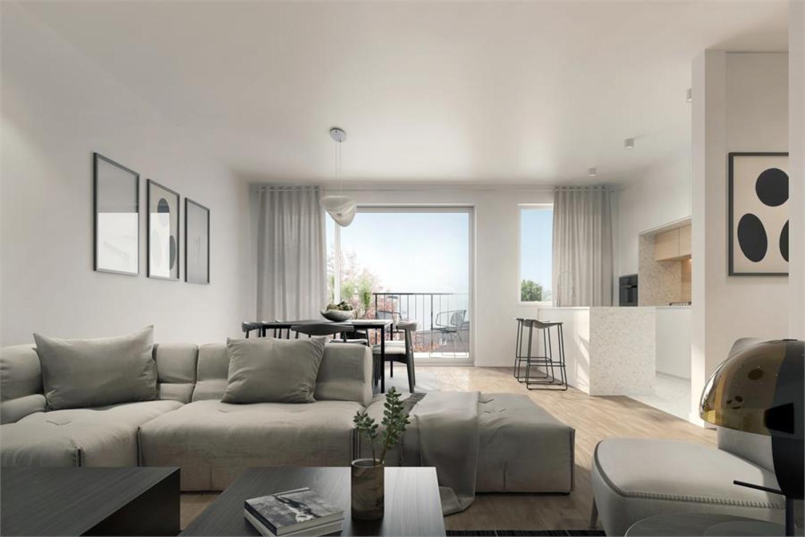 Licht en zeer ruim appartement (+/- 122,5 m²) met 3 slaapkamers en west-georiënteerde privatieve tuin met terras (95 m²)! afbeelding 4