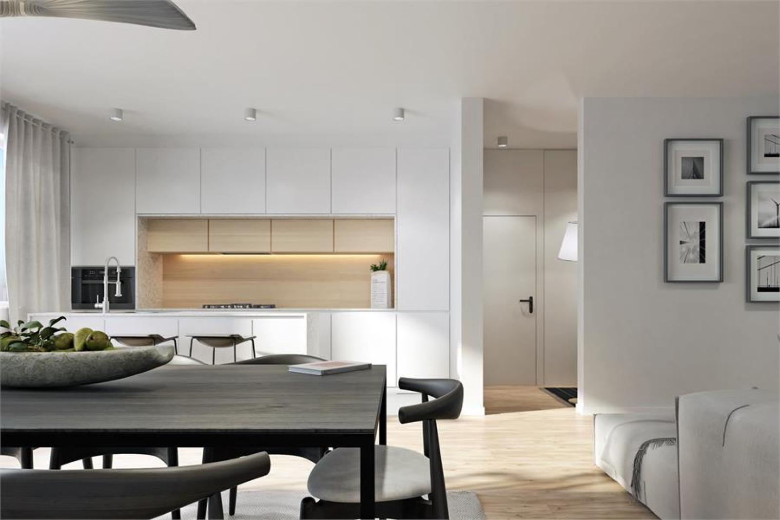 Licht en zeer ruim appartement (+/- 122,5 m²) met 3 slaapkamers en west-georiënteerde privatieve tuin met terras (95 m²)! afbeelding 5