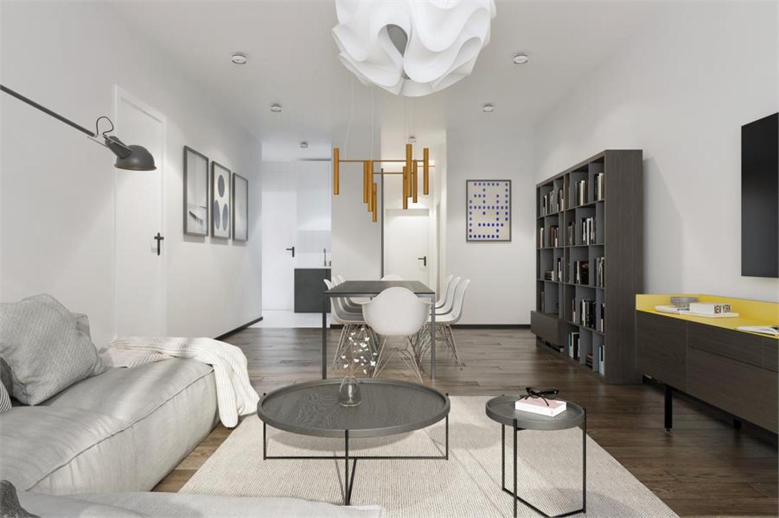 Licht en zeer ruim appartement (+/- 122,5 m²) met 3 slaapkamers en west-georiënteerde privatieve tuin met terras (95 m²)! afbeelding 3