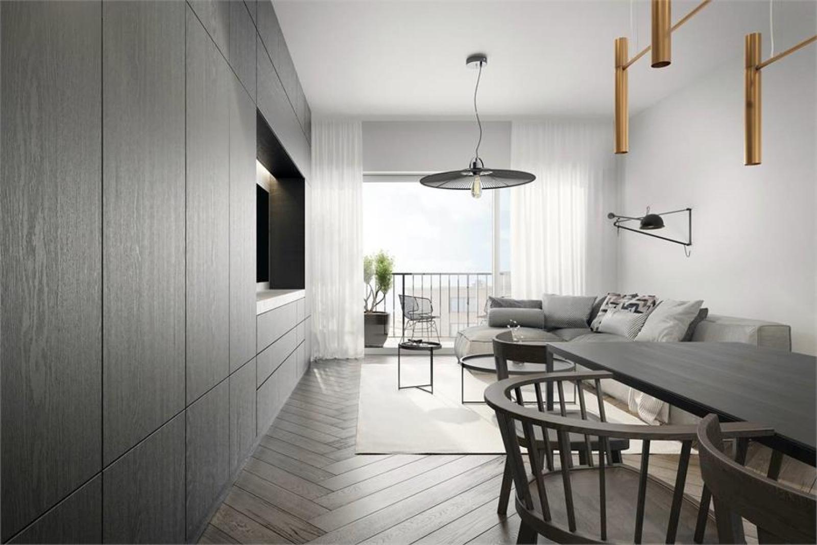 Licht en functioneel appartement (+/-98,8m²) met 3 slaapkamers, terras en zuid-georiënteerde privatieve tuin (81m²)! afbeelding 4