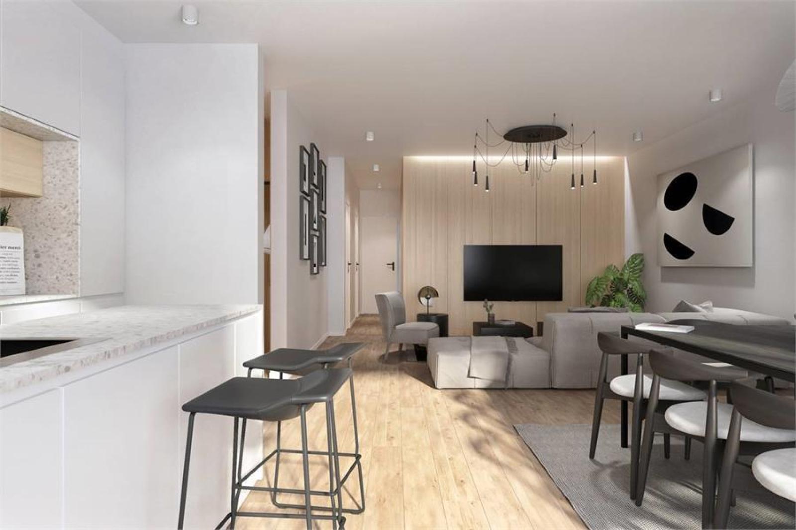Licht en functioneel appartement (+/-98,8m²) met 3 slaapkamers, terras en zuid-georiënteerde privatieve tuin (81m²)! afbeelding 5