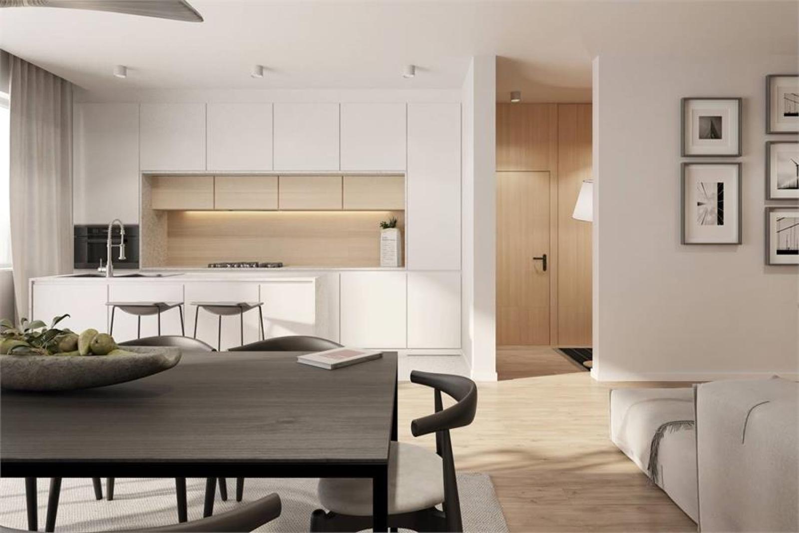 Licht en functioneel appartement (+/-98,8m²) met 3 slaapkamers, terras en zuid-georiënteerde privatieve tuin (81m²)! afbeelding 6
