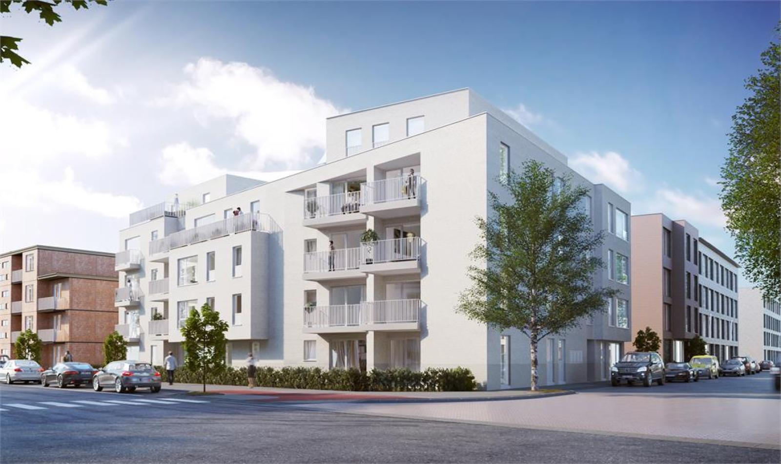 Licht en functioneel appartement (+/-98,8m²) met 3 slaapkamers, terras en zuid-georiënteerde privatieve tuin (81m²)! afbeelding 2