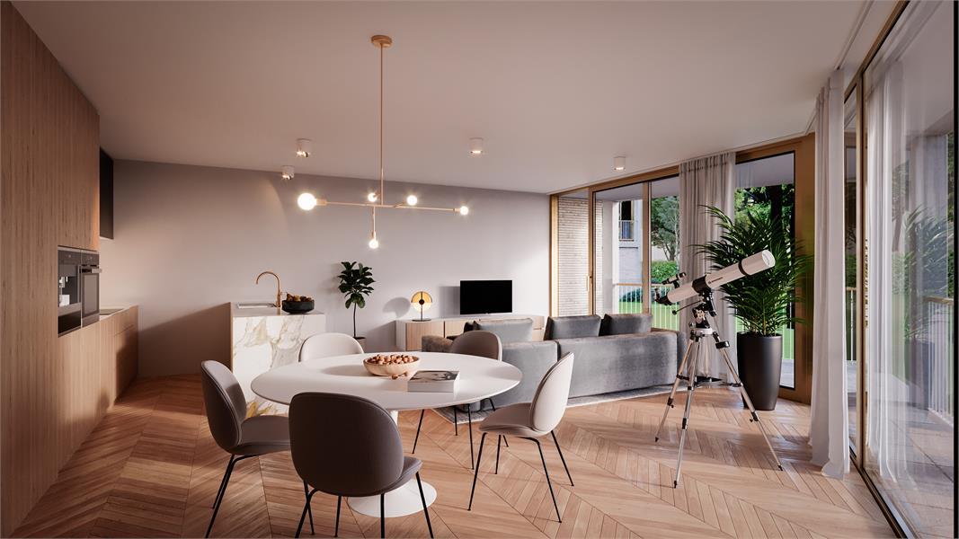 Nieuwbouw appartement op de tweede verdieping in prachtig binnengebied! afbeelding 1