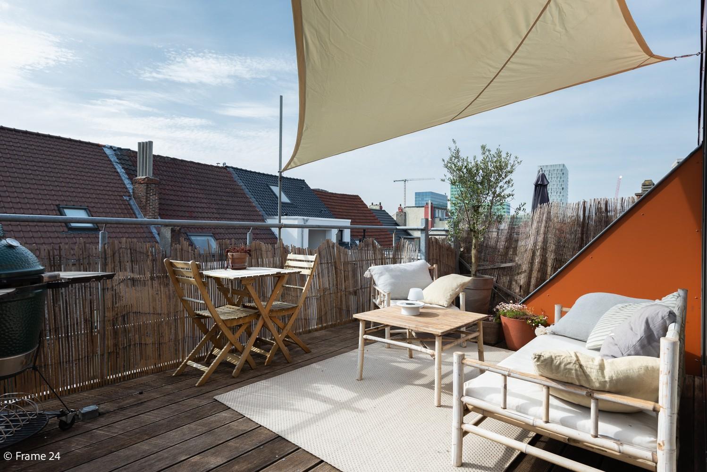 Instapklaar dakappartement met zonnig terras op goede locatie te Antwerpen! afbeelding 15