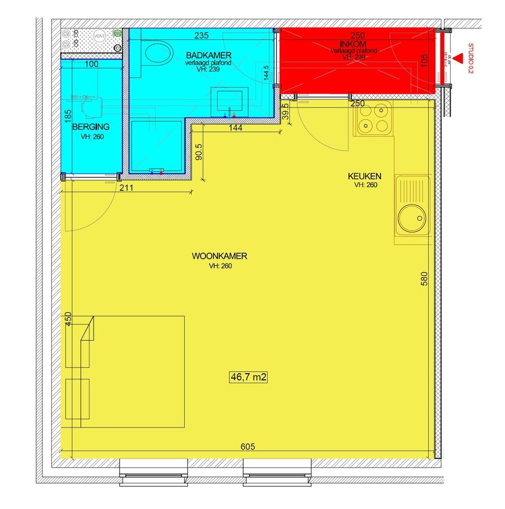 """Prachtige studio van +/- 47 m² in nieuwbouwproject """"Residentie Schoonzicht"""" te Lint! afbeelding 8"""