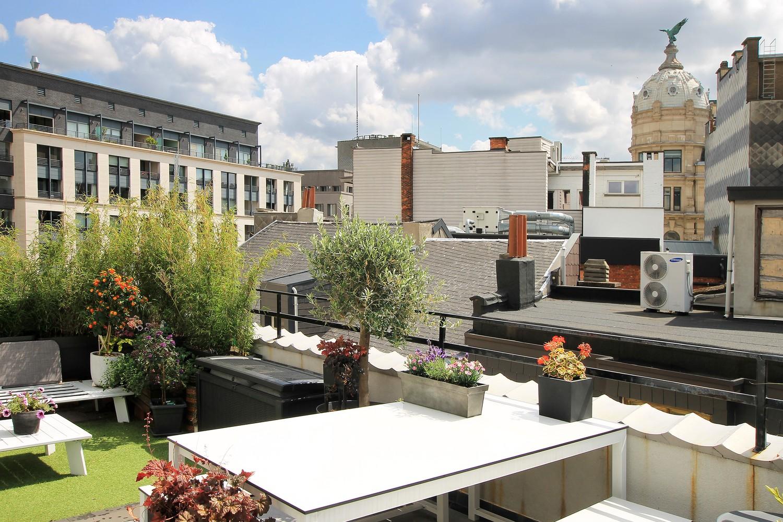 Stijlvol gerenoveerd appartement met twee slaapkamers en prachtig terras (28 m²) in het hartje van Antwerpen! afbeelding 1