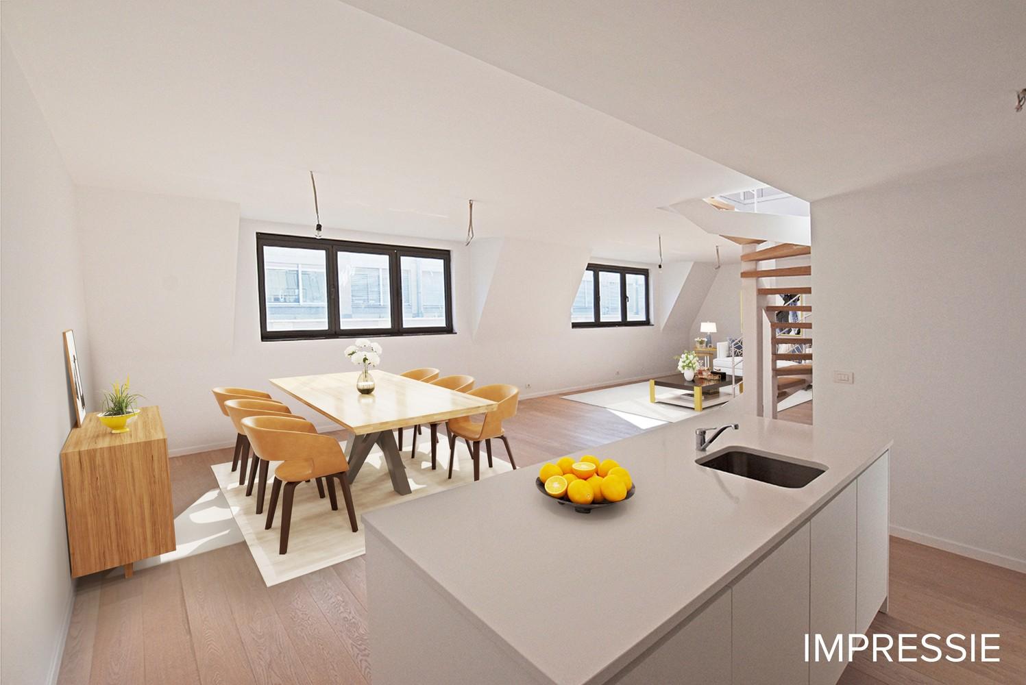 Nieuw en stijlvol duplex-appartement met luxueuze afwerking en riant dakterras (40 m²) te Antwerpen! afbeelding 1