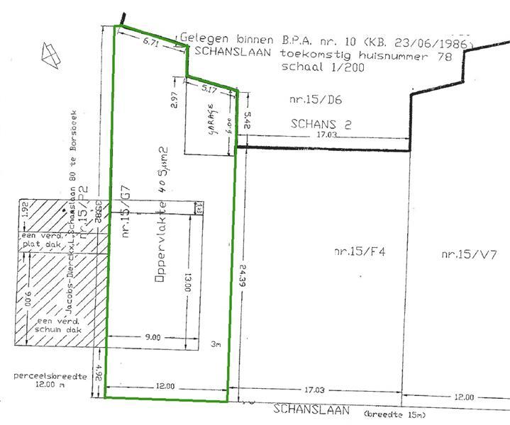 Uitstekend gelegen perceel bouwgrond van 405m² te Borsbeek! afbeelding 2