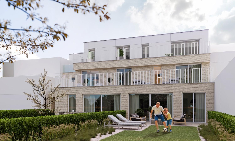 Zeer praktisch gelijkvloers 1 slaapkamerappartement (84 m²) met aangelegd terras (22 m²) en privatieve tuin (106 m²) welke grenst aan natuurgebied! afbeelding 3