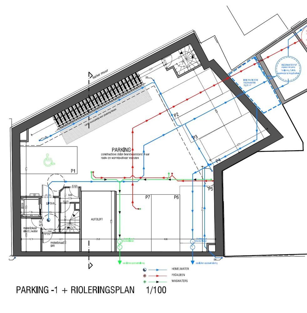 Verschillende ondergrondse staanplaats te huur in Residentie Campus te Antwerpen! afbeelding 5