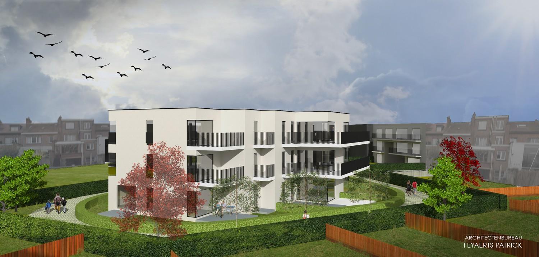 Licht en functioneel appartement (+/-68,00m²) met 1 slaapkamer, terras en noordwest-georiënteerd privatieve tuin (+/-38,05m²)! afbeelding 2
