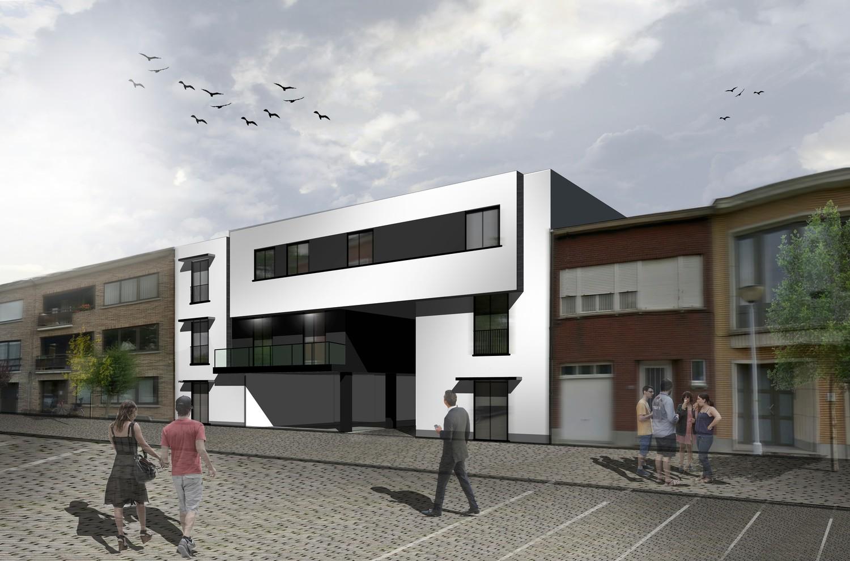 Licht en functioneel appartement (+/-106,00m²) met 2 slaapkamer, zuidwest-georiënteerd terras (+/-12,75m²)! afbeelding 2