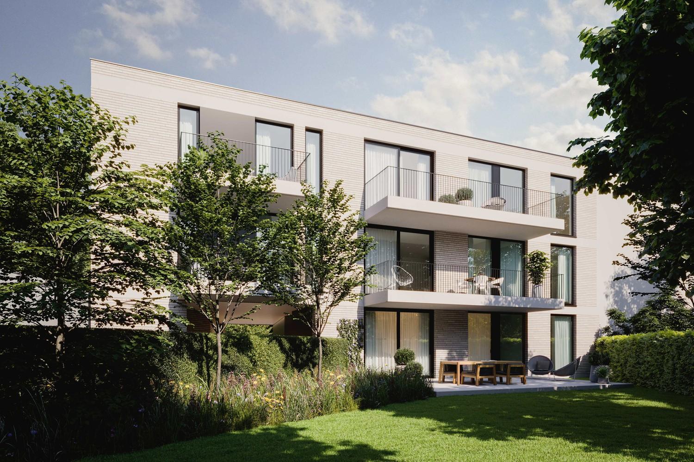 Zeer praktisch gelijkvloers twee slaapkamer appartement (88,3m²) met aangelegd terras (5,2m²)! afbeelding 1
