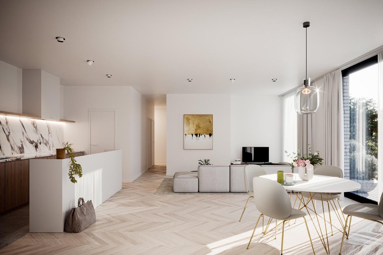 Zeer praktisch gelijkvloers twee slaapkamer appartement (88,3m²) met aangelegd terras (5,2m²)! afbeelding 5