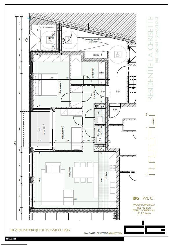 Zeer praktisch gelijkvloers twee slaapkamer appartement (88,3m²) met aangelegd terras (5,2m²)! afbeelding 6