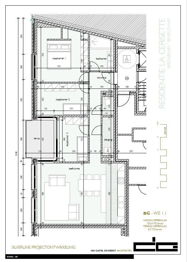 Zeer praktisch drie slaapkamer appartement gelegen op de eerste verdieping (102,4m²) met aangelegd terras (6,7m²)! afbeelding 7