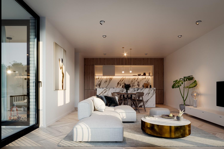 Zeer praktisch twee slaapkamer appartement gelegen op de eerste verdieping (100,5m²) met aangelegd terras (11,9m²)! afbeelding 1