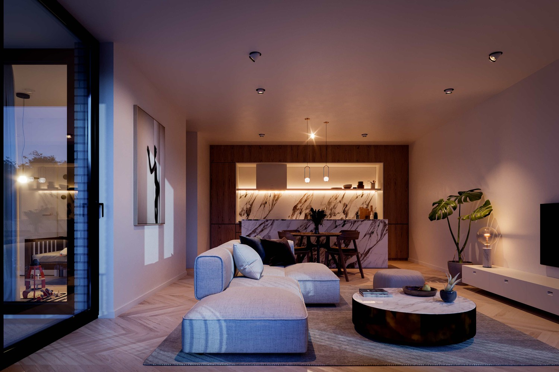 Zeer praktisch drie slaapkamer appartement gelegen op de tweede verdieping (102,4m²) met aangelegd terras (6,7m²)! afbeelding 1