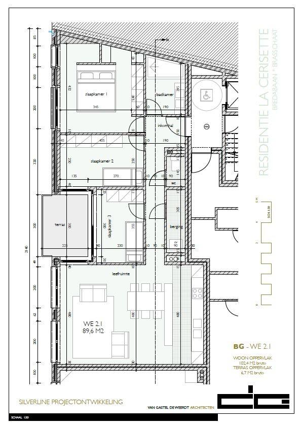 Zeer praktisch drie slaapkamer appartement gelegen op de tweede verdieping (102,4m²) met aangelegd terras (6,7m²)! afbeelding 10