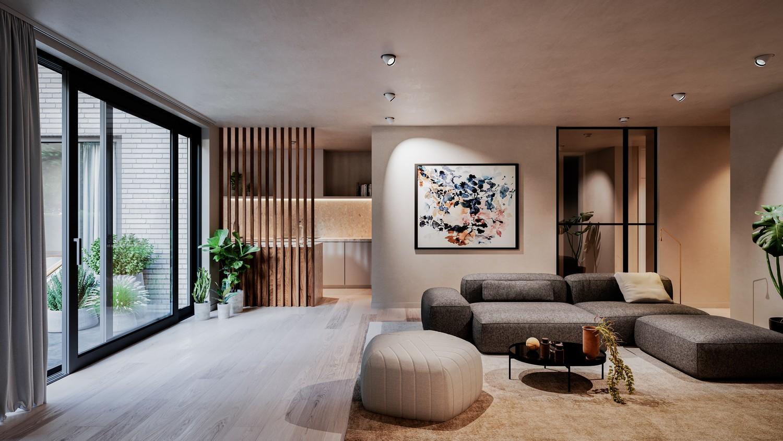 Licht en functioneel appartement (+/-121,84 m²) met 2 slaapkamers, een ruim bureel en noordwest-georiënteerd terras (+/-5.24m²)! afbeelding 5