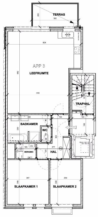 Recent en modern appartement met twee slaapkamers en terras te Deurne! afbeelding 13