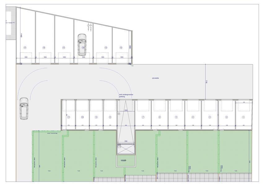Bovengrondse garagebox/magazijn in recent appartementsgebouw te 's Gravenwezel! afbeelding 2