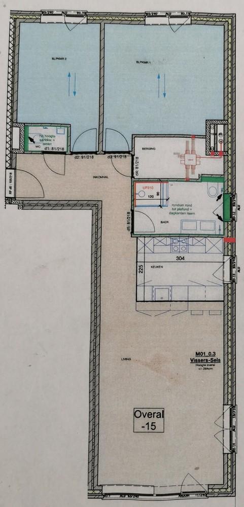 Gloednieuw, gelijkvloers appartement met 2 slaapkamers & autostaanplaats! afbeelding 9